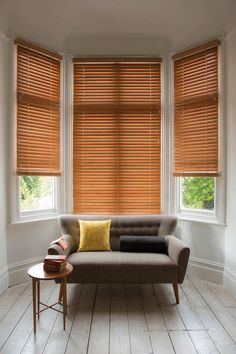 Luxaflex® Wood Blinds. Use wooden blinds with soft sage greens, graphic nature…