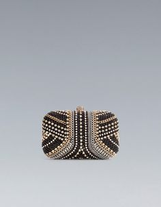 EVENING BOX CLUTCH WITH CHAIN AND GLASS BEADS {ZARA} $89.90