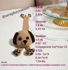 # @ serapbayraktarr # (@ get_repost) # ・ ・ ・ # Foam🐕book # separator Gazzal # Crochet # Eyes # Sh = magic # ring # = tighten # V = increase # e = decrease # * = repeat # # # # Felt Bookmark, Crochet Bookmarks, Crochet Books, Crochet Dolls Free Patterns, Amigurumi Patterns, Free Crochet, Book Markers, Cat Pattern, Crochet Projects