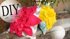 DIY Cute Flower Pillow - Summer Room Decoration Cute Pillows, Diy Pillows, Accent Pillows, Decorative Pillows, Throw Pillows, Living Room Decor Pillows, Diy Room Decor, Diy Craft Projects, Diy And Crafts