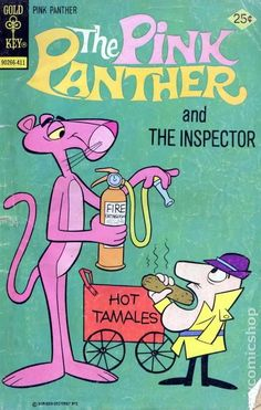 Vintage The Pink Panther and The Inspector comic book Vintage Cartoons, Vintage Comic Books, Classic Cartoons, Vintage Comics, Vintage Posters, Hippie Wallpaper, Retro Wallpaper, Cartoon Posters, Cool Posters