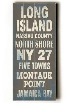Long Island Transit Sign Wall Plaque - Unframed Art - Wall Decor - Home Decor | HomeDecorators.com
