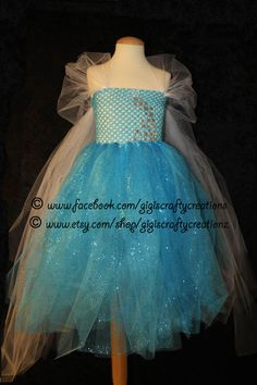 Custom Disney Elsa Snow Queen Frozen Inspired Tutu Dress- Perfect for Halloween, Birthdays, Disney Vacation, costumes, and dress up