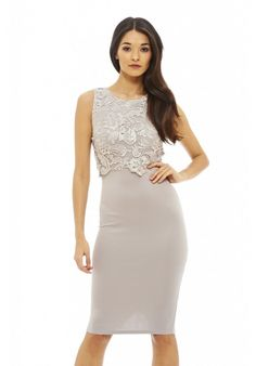 441c5bd677e8 Look at this AX Paris Gray Lace-Overlay Bodycon Dress on  zulily today!