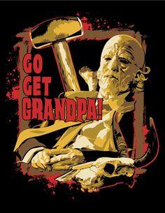 Texas Chainsaw Massacre Grandpa t-shirt