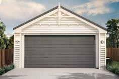 Aluminium Joinery, Queenslander House, Timber Garage, Loft Flooring, Garage Loft, Corrugated Roofing, Roof Structure, Building Companies, High Walls