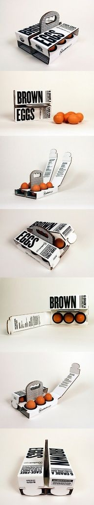 6 Brown Eggs  --Packaging of the World--