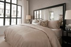 Mirrored Headboards, Transitional, Bedroom, The Cross Decor & Design