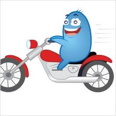Tagsüber fahre ich gern Motorrad : )