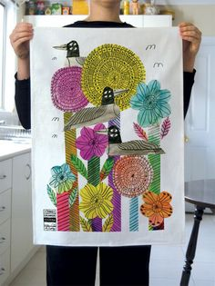 Marcus Oakley tea towel.  gorgeous.  $40