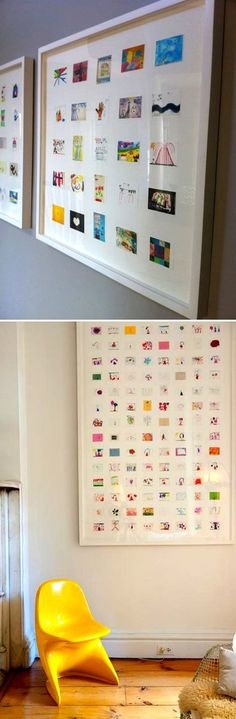 How to display children's art.