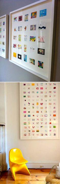 How to display children's art.