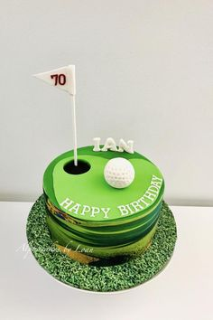 Golf themed cake by Loan Phan You are in the right place about tiger woods Golf Cake Here we offer y 30th Birthday Cakes For Men, Themed Birthday Cakes, 80th Birthday, Dad Cake, Cake Kids, Sports Themed Cakes, Girl Cakes, Celebration Cakes, Cake Decorating