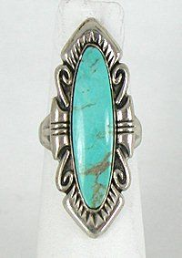 Authentic vintage Navajo Sterling Silver and Turquoise ring