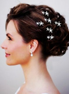 2014 Sliver Beach Wedding Hair Accessories, Starfish Hair Accessories, Beach Bridal Hair Accessories - LoveItSoMuch.com