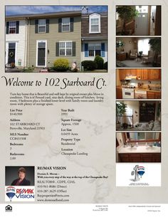 102 Starboard Ct. Perryville, MD 21903 This one is Close to APG Base and marina's and shopping, Original Owner this home is picture perfect and move in condition!