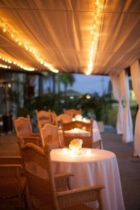 Historic Rice Mill Wedding - Love the chairs and idea of the lights... criss-cross them though.