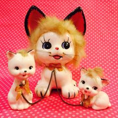 Can you ever have too many vintage kitten figurines?  Not here at Bob's!
