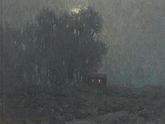 Moonlit Cabin by Granville Redmond