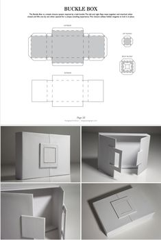 Package Design The Buckle Box is a simple closure system inspired by a belt buckle.The left and righ Packaging Dielines, Packaging Design Templates, Diagrammes Origami, Diy Gift Box Template, Diy Box, Packaging Design Inspiration, Box Design, Simple Packaging, Bag Packaging
