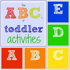 The ABCs of Toddler Activities {Toddler Approved!}