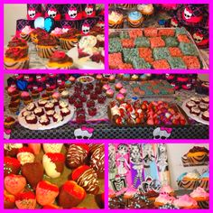 My Daughters Monster High Birthday Party, Cupcakes, Desserts