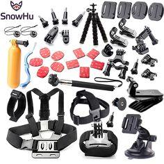 Gopro accessories set chest mount for gopro hero 5 5S  4 3 Eken h9 r h8 SJCAM camera tripod for go pro kit xiaomi yi 4K GS52