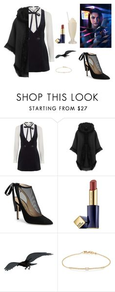 """RIVERDALE: VERONICA LODGE"" by twyzter ❤ liked on Polyvore featuring Topshop, WearAll, Carmen Marc Valvo, Estée Lauder, ibride and Tate"