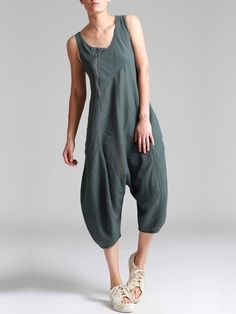 COTTON-CUPRO JUMPSUIT - JACKETS, JUMPSUITS, DRESSES, TROUSERS, SKIRTS, JERSEY, KNITWEAR, ACCESORIES - Woman -