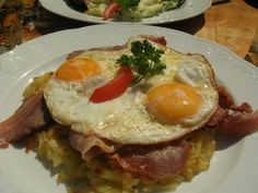 Swiss roesti with eggs (AndreA, Engadin, Switzerland)