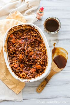 Smoky BBQ Baked Beans (and they're vegan!)   Vanilla And Bean