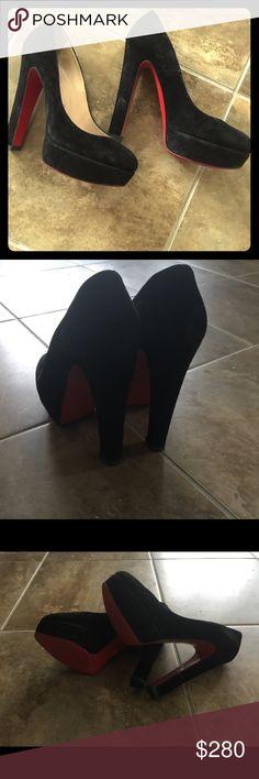 Christian Louboutin Black Suede Pumps Christian Louboutin Shoes Heels