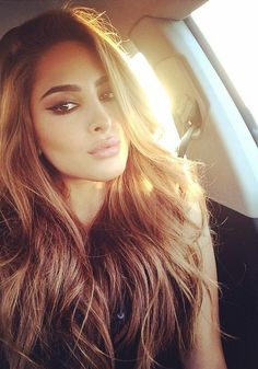 Long hair pretty golden brown highlights i love it! Pretty for summer