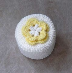 Cottage Rose Crochet Toilet Paper Cover Yellow & by NutmegCottage, $11.00