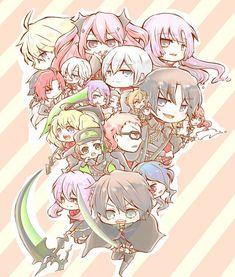 Tags: Anime, Pixiv Id 3906865, Owari no Seraph, Rene Simm, Hyakuya Mikaela, Hanayori Sayuri, Sanguu Mitsuba