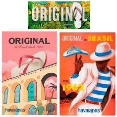 """Com dança no Pão de Açúcar, Havaianas estreou sua primeira campanha global, vale a pena ver de novo!    Comunicação incluiu ainda série de pôsteres, com a assinatura """"Original do Brasil desde 1962""""    #BruF2Design #TodasasCoresdoSucessoem2016 #DesignLife #MKT4Ever"""