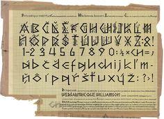 Martin Benka, ornamantal typeface, 1940s