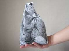 fox pillow cushion gift for couple girlfriend gift two by MosMea, €40.00