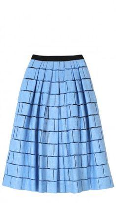 Raffia Patchwork Full Skirt