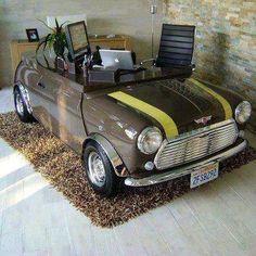 Mini Cooper desk