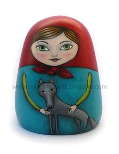 Matrioszka - Czerwony Kapturek i wilk / Matrioshka - Red Riding Hood and wolf