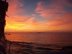 Sunset from the boat at Ensenada