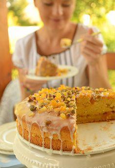 Ciasto dyniowe ucierane, z konfiturą i lukrem cytrynowym - na dobry humor :)