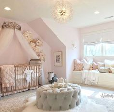 Remember this gorgeous nursery designed by LINDA DANIELS? Well s… Hello friends! Remember this gorgeous nursery designed by LINDA DANIELS? Well she entered it in a nursery photo contest and it absolutely… Girl Nursery Colors, Baby Girl Nursery Themes, Baby Room Decor, Nursery Room, Princess Nursery Theme, Nursery Decor, Rose Nursery, Baby Girl Bedroom Ideas, Baby Rooms