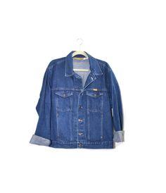 Vintage Denim Jacket Rustler Denim Jacket Mens by founditinatlanta