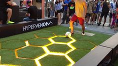Nike, Hypervenom | #digital #interactive Interesting physical interaction - teaching by doing while advertising?