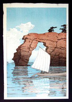 """Hasui Kawase - Matsushima Island - 15 14"""" x 10 1/4"""""""