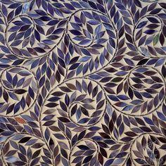 Jacqueline Vine waterjet mosaic field shown in Amethyst Jewel glass.