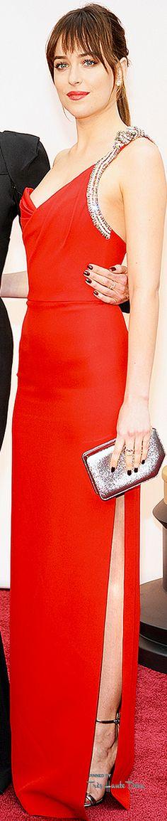 #Oscars 2015 Dakota Johnson in Saint Laurent and mom Melanie Griffith