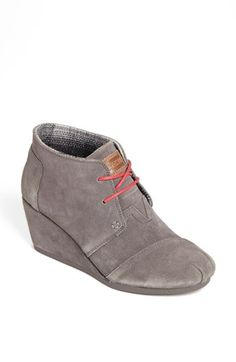 TOMS 'Desert' Bootie #Nordstrom Yes! They finally have it in grey, most comfortable shoes ever!